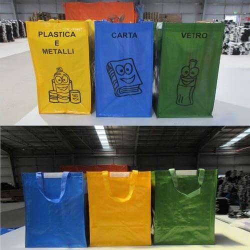 Reusable recycling bin bags