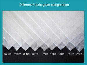 Non-woven gram comparation