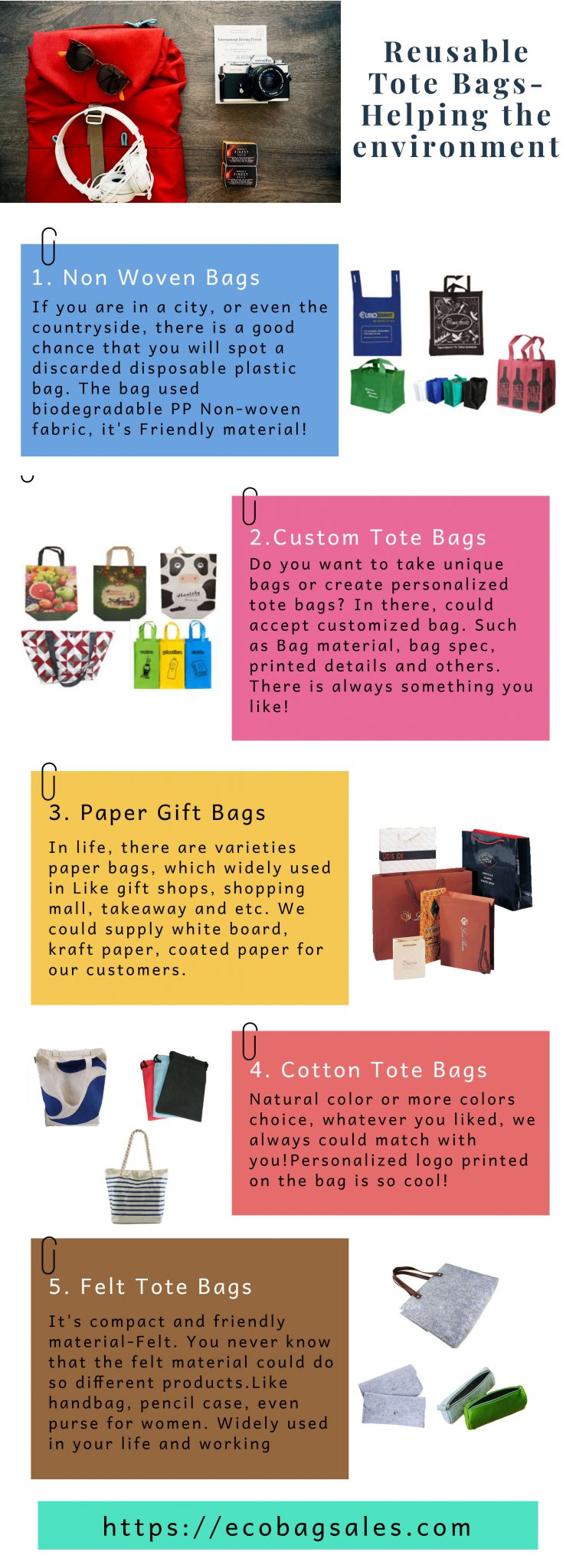 Reusable Tote Bags Infographic